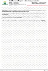certificado de registro e classificaçao Cadastral